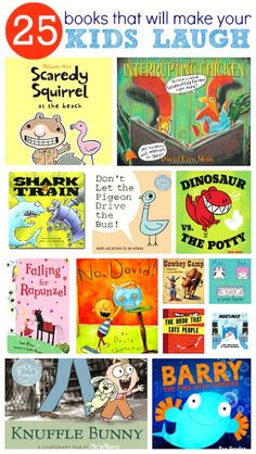 Great list of picture books to make your kids giggle during story time.