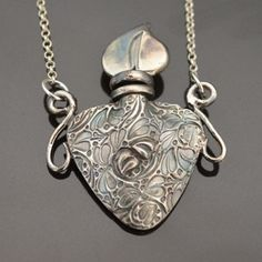This sweet perfume case is a new project by Tracey Spurgin Of carftworx metal ckay jewellery school