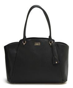Kate Spade Black Ashlee Anna Court Leather Tote | zulily