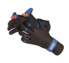 Glacier 2mm Fleece Lined Kenai Neoprene Full Finger Fishing Hunting Work Gloves