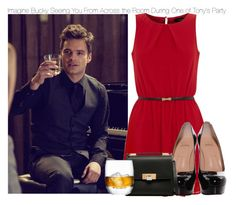 """Imagine Bucky Seeing You From Across the Room During One Of Tony's Party"" by fandomimagineshere ❤ liked on Polyvore featuring Christian Louboutin, Balenciaga and LSA International"