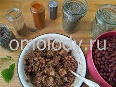 Котлеты из фасоли с грибами, фасоль рецепты