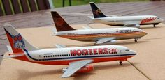 737-200 Hooters Air, Orion and Aloha Airlines