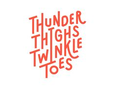type-lovers:    This is a logotype for a fictional company named Thunder Thighs Twinkle Toes — The School of Unconventional Ballet. The logotype references this preconceived notion about ballerinas using the elongated letters and rigid structure.    Michelle Wang  Pratt Institute  behance.net/mwang