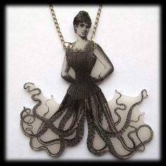 Octopus costume? Pirate Halloween, Holidays Halloween, Octopus Costume, Octopus Jewelry, Halloween Jewelry, Children Images, Animal Heads, Tentacle, Marine Life