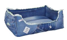 Recylcling Hundebett aus alten Jeans