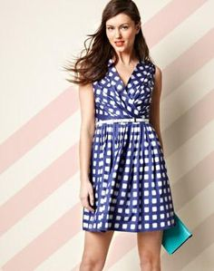 4th of July Style: Blue Checkered Dress