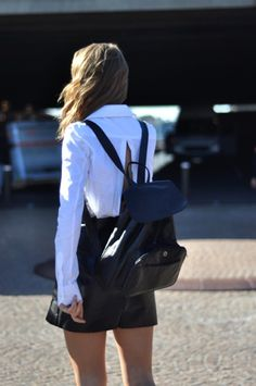 I'm all about hands-free, fuss-free bags #backpack #leather