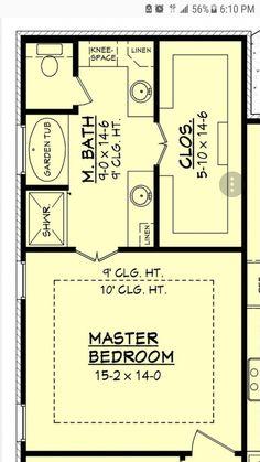 8 x 12 master bathroom floor plans - Google Search ...