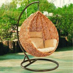 Bird nest swing hanging basket rattan chair outdoor furniture ...