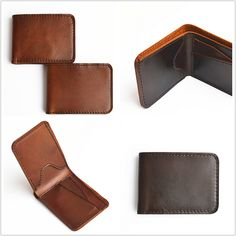 Slim Handmade Mens Leather Wallet Men Womens by SolidLeatherCo