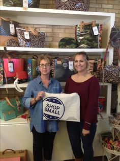 Granting our Shop Small bags to Shear Designs! Do not forget to shop small every chance you get!😊 #GonzalesTX #smallbusiness