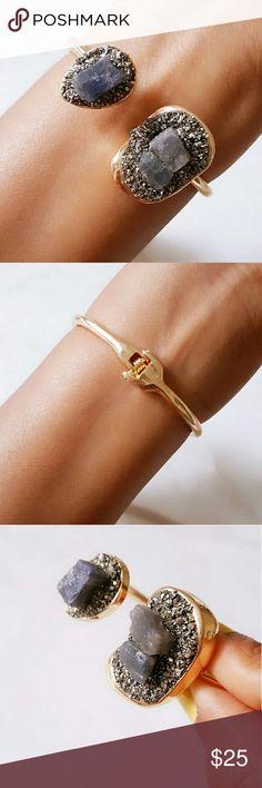 Natural Stone Gold Cuff Brand in Box Gold Cuff Jewelry Bracelets