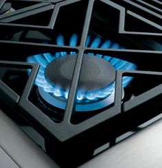 """ZGU364NDPSS GE Monogram 36"""" Pro Style Gas Cooktop with 4 Burners and Griddle - Natural Gas - Stainless Steel"""