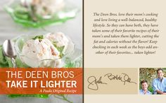 The Deen Bros. Lighter Peach Ice Cream on PaulaDeen.com #pauladeen