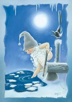 Kaarina Toivanen - Suomi 100 v Christmas 2019, Christmas Crafts, Illustrations And Posters, Craft Activities, Cute Art, Illustrators, Fairy Tales, Whimsical, Cartoon