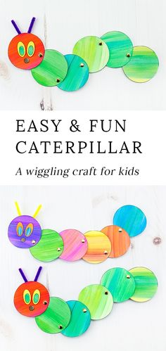 Looking for an easy and fun caterpillar craft for kids? Inspired by The Very Hungry Caterpillar, our simple caterpillar craft includes a printable template, making it perfect for home or school. #caterpillarcrafts #springcrafts #kidscrafts #papercrafts #veryhungrycaterpillarcrafts via @https://www.pinterest.com/fireflymudpie/