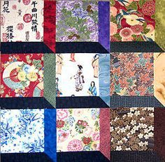 """Make Attic Windows Quilt Blocks with an OrientalTheme - this would be awesome with the calendar girls in the """"windows"""" and a coordinating sash! Oh I think I found the block pattern I want to use!"""