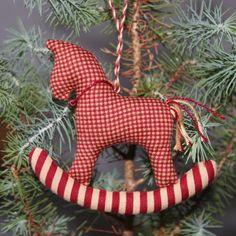 Rocking Horse Christmas Tree Ornament