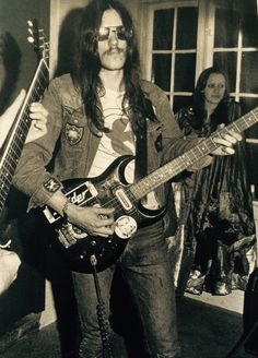Lemmy with Hawkwind - Copenhagen 1972.