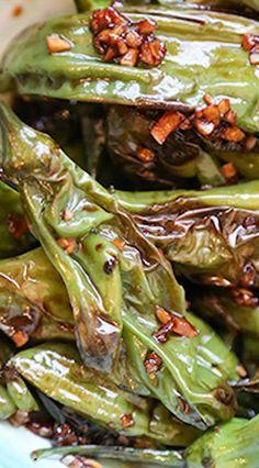 Sautéed Shishito Peppers with Ponzu and Garlic Sauce Recipe