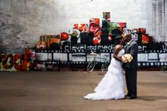 Areial & Marcus - A Cleveland City Skyline Wedding – Today's Bride Wedding Dress Pictures, Wedding Dresses, Cleveland City, Batman Wedding, Batman Party, Wedding Inspiration, Wedding Ideas, Real Weddings, Marriage