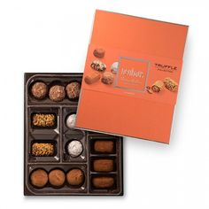 The Neuhaus Truffles Collection offers a true impression of the luxury of the Neuhaus brand. A selection of 16 Belgian chocolate truffles, in a contemporary, colourful and luxurious gift packaging.