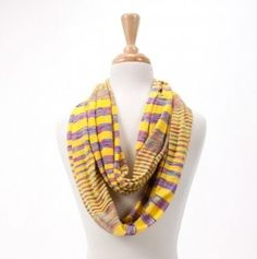Ray of Light Striped Infinity Scarf