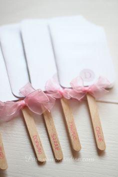 Carte d'invitation pour goûter d'anniversaire de fille en glace esquimau - www.puregourmandise.comLblog/