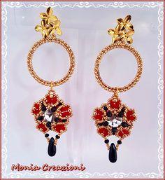 Monia Creazioni: Brick Flower Earrings!