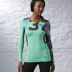 Reebok - Компрессионная футболка с длинным рукавом One Series