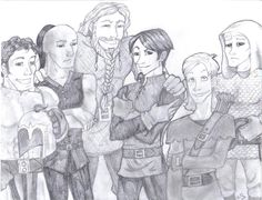 Some of the Men from the Belgariad. Drawn by me.
