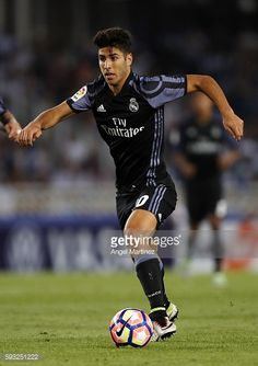 News Photo : Marco Asensio of Real Madrid in action during the...