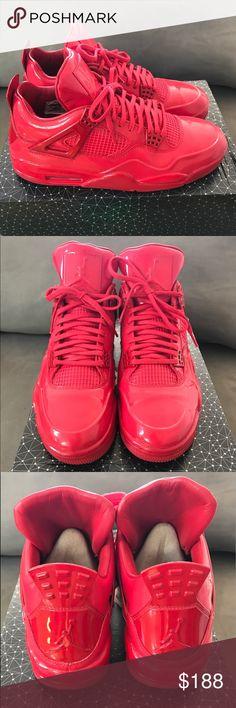 Jordan LAB 4 Size 11, University Red Super Clean Jordan Shoes Sneakers