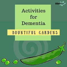 Great garden activity ideas for people with Alzheimers or other dementia, including crafts, sensory, food prep, reminiscing, and more.