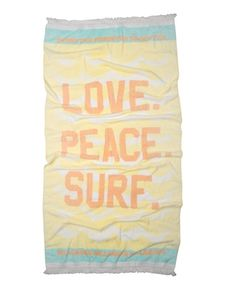 beach towel.