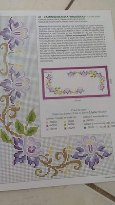 Cross Stitch Borders, Cross Stitch Rose, Cross Stitch Flowers, Cross Stitch Designs, Stitch Patterns, Hardanger Embroidery, Embroidery Stitches, Hand Embroidery, Diy Flowers