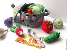 Фрукты-овощи в амигуруми — ВЯЗАНАЯ СКАЗКА Амигуруми. Шары в вязаных игрушках.