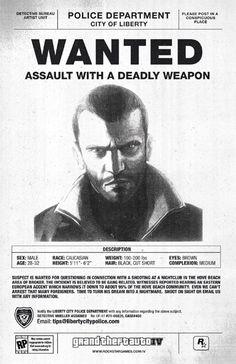 video games Most Wanted - GTA Grand Theft Auto 4, Grand Theft Auto Series, Video Game Art, Video Games, Gta San Andreas, Geek Games, Rockstar Games, Game Character, Gaming