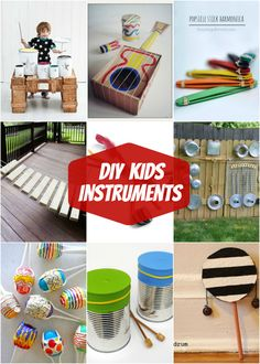 Make-It Music Mondays Fun DIY Kids Instruments - great Summer activity! Craft Activities For Kids, Summer Activities, Toddler Activities, Projects For Kids, Diy For Kids, Indoor Activities, Kids Fun, Family Activities, Craft Projects