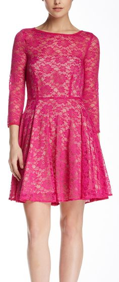 #Fuchsia #lace #dress