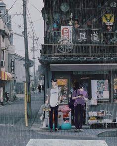 NCT's Doyoung & Ten Fanart #NCT #DOYOUNG #TEN #FANART #DRAWING #KPOP #MANGA #ANIME #RAIN #CITY Ten Chittaphon, Nct Ten, Nct Doyoung, Kpop Fanart, Staying Alive, Times Square, Street View, Fan Art, Anime