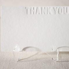 Blinded letterpress cards