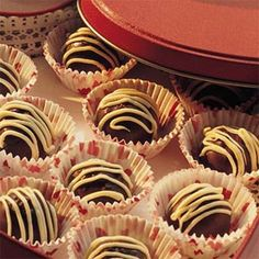 Raspberry-Fudge Truffles | MyRecipes.com....hmmm, maybe for christmas treats this year!