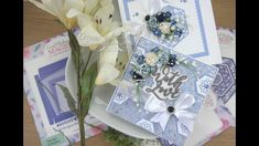 6x6 Collection Blue & White With Love Card