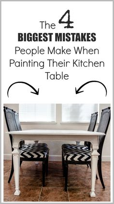 Mistakes People Make When Painting a Kitchen Table