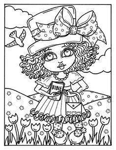 5 Pages Of CHURCH Girls To Color And Create Easter