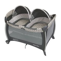 This Graco pack-n-play with twin bassinets is a must for any family with multiples on the go.