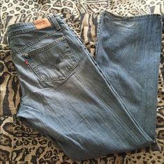 Levi's super low !!!  Light wash Boot cut light wash Levi's Levi's Pants