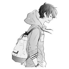 Untitled We Heart It ❤ liked on Polyvore featuring anime, manga, fillers, anime boys and people